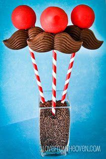 Mustache Cake Pops