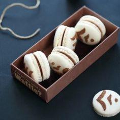 Milk Chocolate Praline Macarons