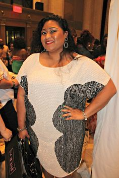 At Full Figure Fashion Week in NYC. Wearing Asos Curve dress. Plus blogger Kiah of fromthereztothecity.blogspot.com