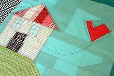 houses, heart kite, quilt hous, mini quilts, background, appliques, balloons, kites, hous block