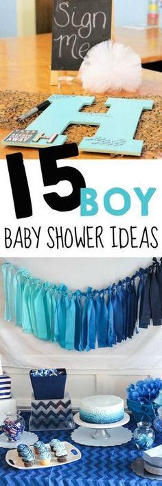 baby shower ideas for boys / 15 boy baby shower ideas