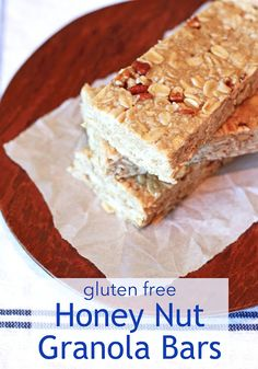gluten free honey nut granola bars