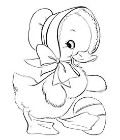 Cute Female Duck Coloring Pages