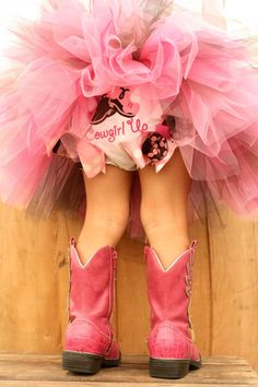 The cowgirl boots remind me of little M in her ballet dress with her white cowgirl boots!