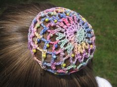 Pastel Crocheted Ballet Bun Cover w/glass beads - Ballet Snood - . Pastel Crocheted Ballet Bun Cover w/glass beads – Ballet Snood – … Crochet Snood, Crochet Towel, Love Crochet, Crochet Gifts, Crochet Flowers, Crochet Hooks, Crochet Headbands, Crochet Stitches Patterns, Crochet Designs