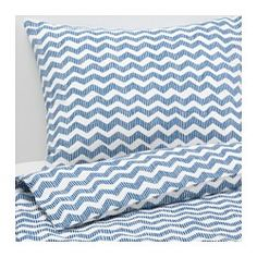 IKEA - SOMMAR 2016, Duvet cover and pillowcase(s), Full/Queen (Double/Queen), , The polyester/cotton blend is easy to care for since the fabric is less liable to shrink and crease.
