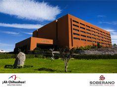 En el HOTEL SOBERANO CHIHUAHUA, ofrecemos a nuestros huéspedes servicios de la mejor calidad en la Ciudad de Chihuahua. Contamos con 204 amplias habitaciones, con espléndidas vistas a la ciudad y todos los servicios que usted necesita. Estamos ubicados a 15 minutos del Centro Histórico y a 20 minutos del Aeropuerto. Venga a conocer este  estupendo Hotel. Informes y reservaciones al teléfono en México 01 800 711 4099 y USA 1 800 363 5997 #visitachihuahua