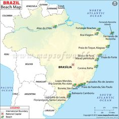 Everything on a map..Get #Brazil #Beaches also on a 3MAP