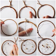 DIY attrape rêve tutoriel et idées etape fabriquer faire soi meme son attrape reve tuto déco Dream Catcher Craft, Diy Projects To Try, Woodworking Crafts, Diy Art, Diy Room Decor, Christmas Diy, Diy And Crafts, Easy Diy, Creative