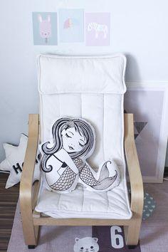 Little Mermaid Pillow by Bloomingville