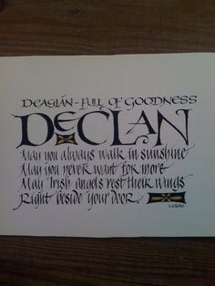Declan - The meaning of the name Declan is Full Of Goodness The origin of the name Declan is Irish