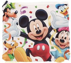Mickey Mouse And Friends Disney Mickey Mouse, Happy Birthday Mickey Mouse, Mickey Mouse Y Amigos, Mickey Mouse Clipart, Mickey Mouse Cartoon, Mickey Party, Mickey Mouse And Friends, Disney Fun, Walt Disney