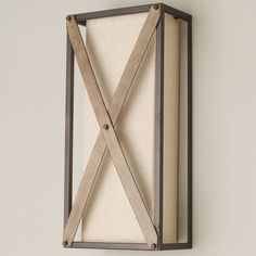 Rustic Crossed Sconce beige_gray_accents_iron
