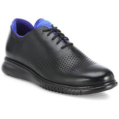 Cole Haan ZeroGrand Perforated Two-Tone Leather Oxfords : Cole Haan... (810 BRL) ❤ liked on Polyvore featuring men's fashion, men's shoes, men's oxfords, apparel & accessories, black, mens black leather shoes, mens black oxford shoes, mens perforated shoes, cole haan mens shoes and mens two tone oxford shoes