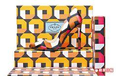 PRADA今年的訂製鞋活動,選擇印花鞋面,鞋盒會是同樣花色。2萬7500元