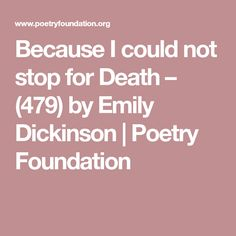 emily dickinsons poetry and morbid preoccupation with death The subject of death, including her own was a very prevalent theme in emily dickinson's poems and letters some may find her preoccupation with death morbid, but this was not unusual for.