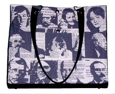 """This new tote is for all the writers and poets! I put Allan Ginsberg on the pocket as I was inspired to read his work after reading """"Just Kids"""" by Patti Smith. """"Poetry is the one place where people can speak their original human mind. It is the outlet for people to say in public what is known in private. """" ― Allen Ginsberg Allen Ginsberg, Aldous Huxley, Rainer Maria Rilke, Patti Smith, Writers And Poets, Albert Camus, George Orwell, Human Mind, Philosophy"""