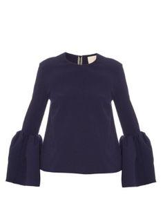 Truffaut bell-sleeve bonded-crepe top | Roksanda | MATCHESFASHION.COM US