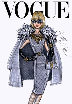 Hayden Williams Fashion Illustrations: The September Issue: Anna Wintour by Hayden Williams
