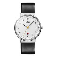 d8185a87472 Braun Men s BN0032WHBKG Classic Analog Watch w. White Display and Black  Band