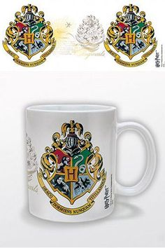 Harry Potter Hogwarts Crest Mug Ceramic Cup Tea Coffee Film Boxed Gift Muggle Mug Harry Potter, Harry Potter Merchandise, Harry Potter Hogwarts, Collection Harry Potter, Hogwarts Crest, Gold Foil Print, Scroll Design, Ceramic Cups, House Colors