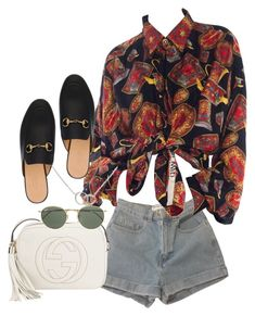 Sin título #4275 by camilae97 on Polyvore featuring polyvore, fashion, style, American Apparel, Gucci, Cartier, Ray-Ban and clothing