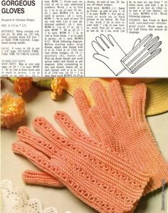 Click through for the diagram ~ gorgeous gloves, crochet patterns | make handmade, crochet, craft