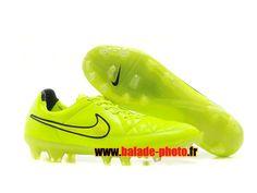 Nike Tiempo Legend V FG Chaussures de football Jaune Noir 4314