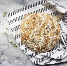 No Knead Bread with Dill