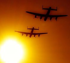Lancasters at sunset