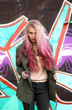 #ootd #women #cool #pinkhair #outfit #longhair