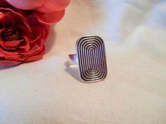 Auran Kultaseppä, vintage modernist sterling silver ring. #Finland