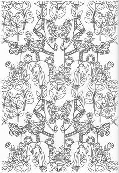 Scandinavian Coloring Book Page Pattern Coloring Pages, Cute Coloring Pages, Doodle Coloring, Coloring Pages To Print, Adult Coloring Pages, Coloring Sheets, Coloring Books, Scandinavian Pattern, Colored Pencil Techniques