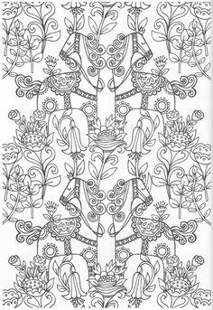Scandinavian Coloring Book Page Pattern Coloring Pages, Cute Coloring Pages, Doodle Coloring, Coloring Pages To Print, Mandala Coloring, Adult Coloring Pages, Coloring Sheets, Coloring Books, Scandinavian Pattern