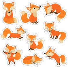 Скрапбукинг, рукоделие | VK Fox Party, Fox Crafts, Printable Planner Stickers, Printables, Printable Animals, Art Drawings For Kids, Felt Patterns, Scrapbook Embellishments, Watercolor Drawing