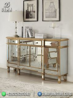 Mirrored Furniture, Entryway Furniture, Bedroom Furniture, Home Furniture, Mirrored Table, Garden Furniture, Furniture Design, Modern Mirror Design, Mirror Buffet
