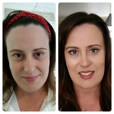 Natural Wedding Makeup. Before and after.