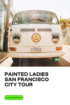 Enjoy a small group tour through some of the 15 BEST city highlights in a vintage Volkswagen Bus.  . . #CultureTrip #CultureTripExperiences #ForCuriousTravellers #SanFrancisco #PaintedLadies #CityTour #California #CaliforniaDreamin #USA #SanFranciscoExperiences #SanFranciscoTours San Francisco City Tour, San Francisco Day Trip, San Francisco Travel Guide, Alcatraz Tour, Vintage Volkswagen Bus, Photo Software, Sonoma Wine Country, Lombard Street