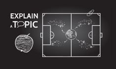 Prezi Template with Blackboard background, educational games concept. Prezi template with elements: blackboard, football field, tasks. Template is great for topics like: education, teamwork, school. Download from Prezibase.com