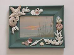 Seashell Aqua foto marco marco de imagen de por TheSleepySeahorse