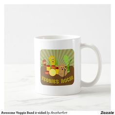 Awesome Veggie Band 2-sided Coffee Mug