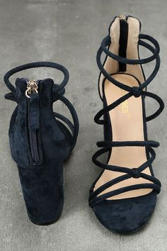 ea3133077 The Caley Navy Suede Ankle Strap Heels will bring the perfect lift to all  of your
