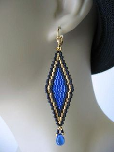 Pendientes Brick Stitch Earrings, Seed Bead Earrings, Fringe Earrings, Diy Earrings, Beaded Rings, Beaded Jewelry, Handmade Jewelry, Beadwork, Beading
