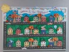 Fall bulletin board with transportation unit added.
