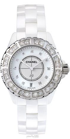 Chanel J12 33mm with Diamonds - White Ceramic - Steel Set