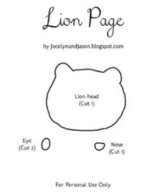 Lion Quiet Book Page