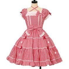 ♡ Angelic pretty ♡ Gingham Margaret Dress http://www.wunderwelt.jp/products/detail12636.html ☆ ·.. · ° ☆ How to order ☆ ·.. · ° ☆ http://www.wunderwelt.jp/user_data/shoppingguide-eng ☆ ·.. · ☆ Japanese Vintage Lolita clothing shop Wunderwelt ☆ ·.. · ☆