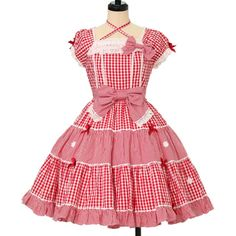 ♡ Angelic pretty ♡ Gingham Margaret Dress http://www.wunderwelt.jp/products/detail12636.html ☆ ·.. · ° ☆ How to order ☆ ·.. · ° ☆ http://www.wunderwelt.jp/user_data/shoppingguide-eng ☆ ·.. · ☆ Japanese Vintage Lolita clothing shop Wunderwelt ☆ ·.. · ☆