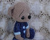 Reserved for Noesje Artist teddy bear Thread crochet OOAK. $65.00, via Etsy.