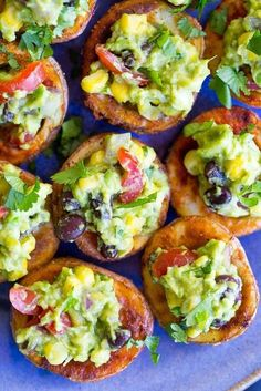 Roasted Potato Cups with Loaded Guacamole (gf v)